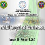 Tarpaulin for Medical, Surgical and Dental Mission on January 30 to February 3, 2017
